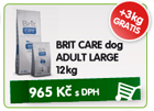 BRIT CARE dog ADULT LARGE 12kg - GRATIS 3kg / 965k�