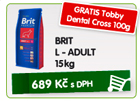 BRIT L - ADULT 15kg - GRATIS Tobby Dental Cross 100g/689K�