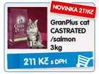 GranPlus cat CASTRATED/salmon 3kg - NOVINKA - 211k�