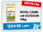 ROYAL CANIN cat OUTDOOR 10kg - GRATIS 2kg / 1.234k�
