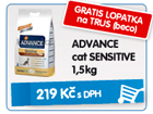 ADVANCE cat SENSITIVE 1,5kg - GRATIS LOPATKA na TRUS (beco) / 219k�