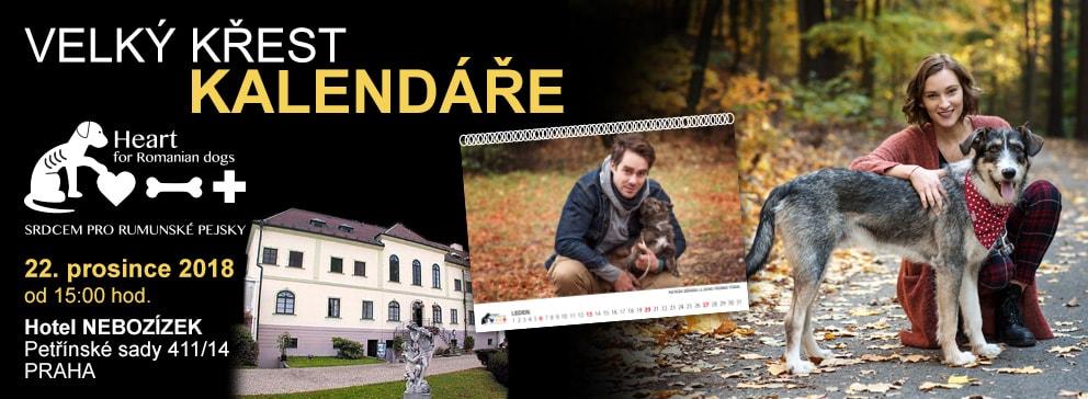 Křest kalendáře na pomoc rumunským pejskům