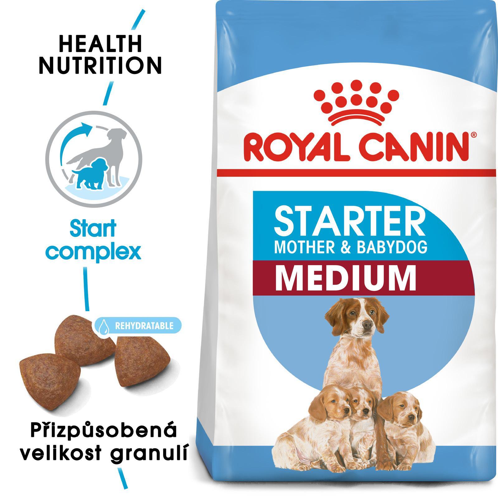 Royal Canin MEDIUM STARTER - granule pro březí nebo kojící feny a štěňata - 4kg