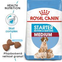 Royal Canin MEDIUM STARTER - granule pro březí nebo kojící feny a štěňata