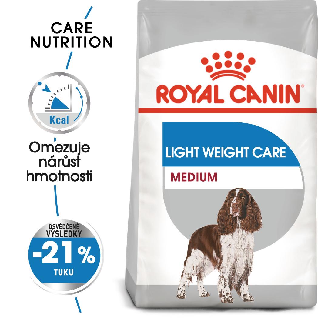 Royal Canin Medium Light Weight Care - dietní granule pro střední psy - 9kg
