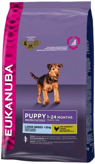 Eukanuba PUPPY/JUNIOR large - 15kg+ 3kg GRATIS