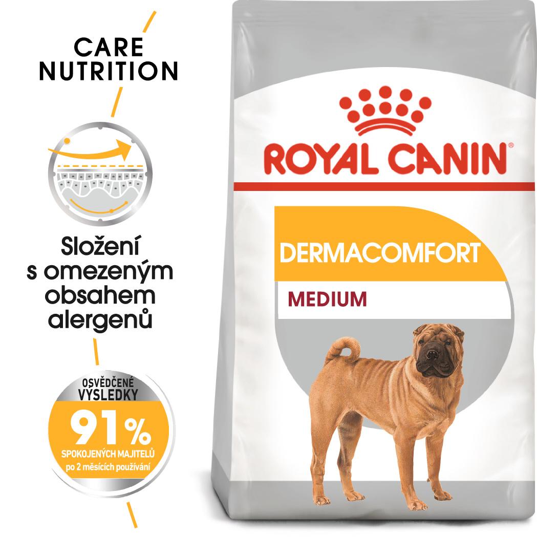 Royal Canin Medium Dermacomfort - granule pro střední psy s problémy s kůží - 10kg