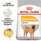 Royal Canin  Medium Dermacomfort - granule pro střední psy s problémy s kůží