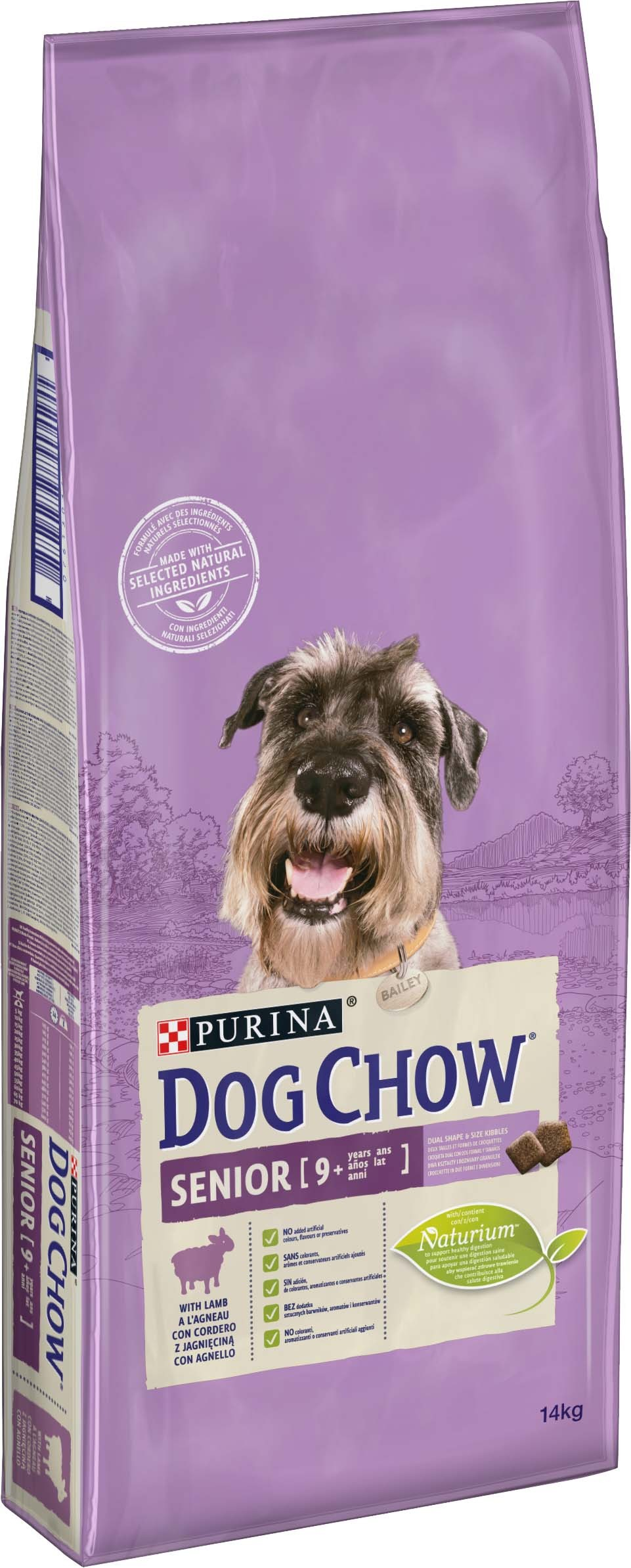 PURINA dog chow SENIOR jehněčí - 14kg