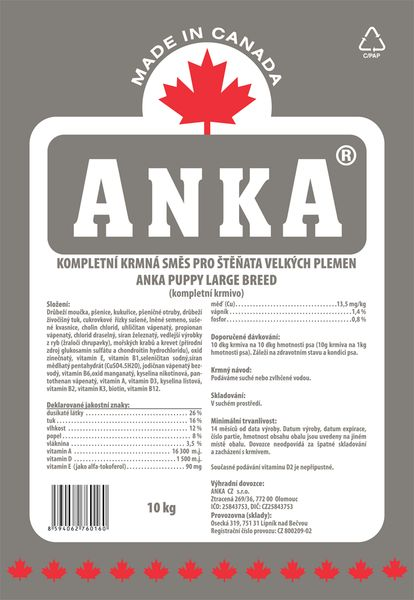 ANKA Puppy Large - 10kg