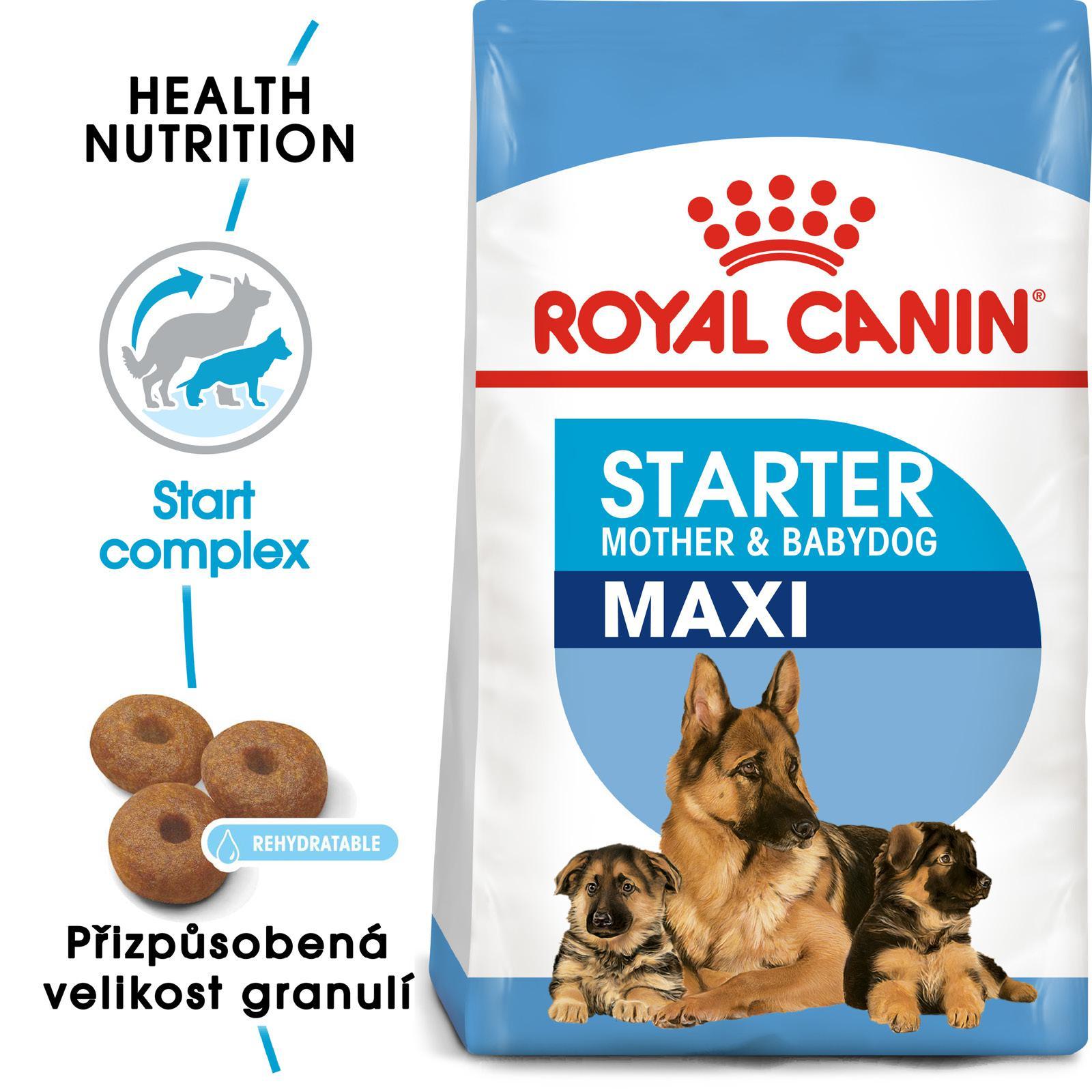 Royal Canin MAXI STARTER - granule pro březí nebo kojící feny a štěňata - 15kg