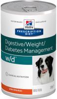 Hills Canine  w/d (dieta) konzerva