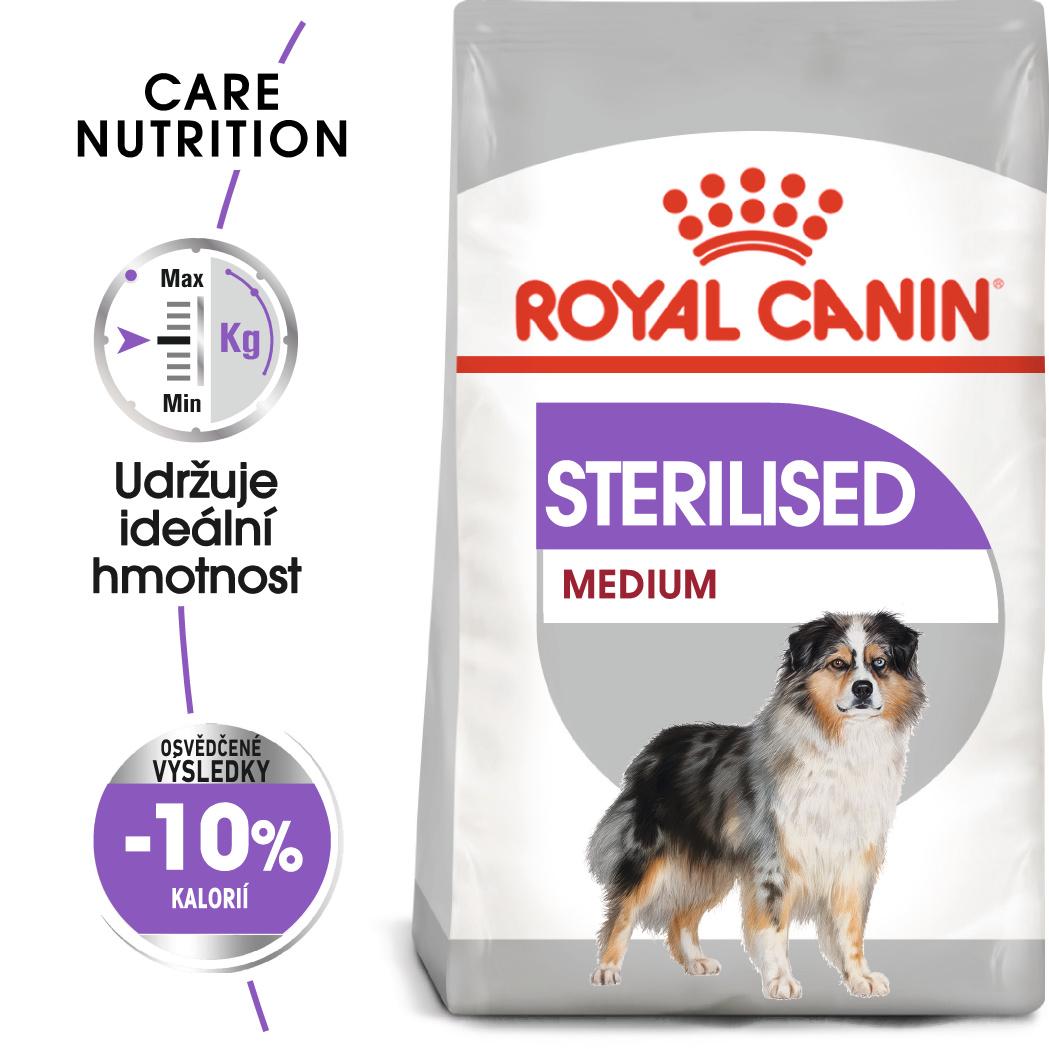Royal Canin Medium Sterilised - granule pro kastrované střední psy - 10kg