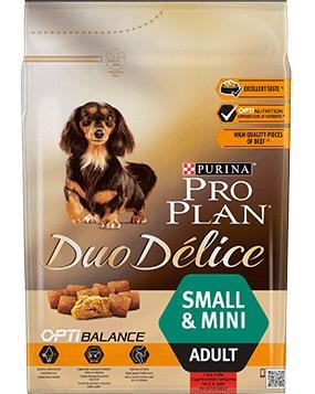 PROPLAN DUOdelice SMALL/MINI beef - 2,5kg