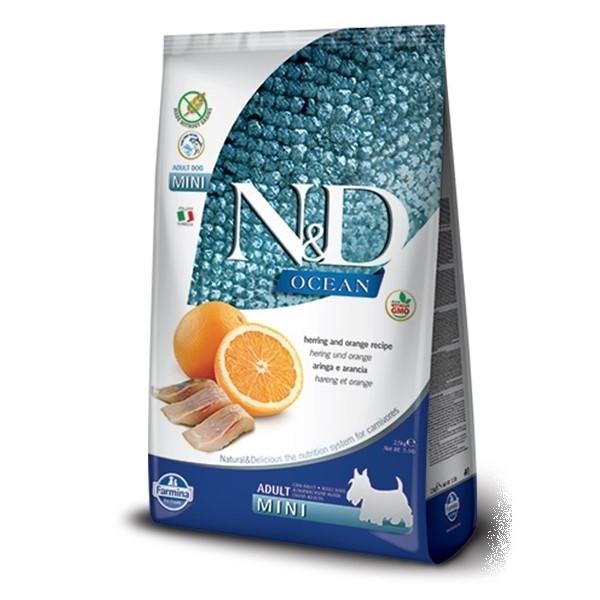 E-shop N&D dog GF OCEAN ADULT MINI herring/orange - 7kg
