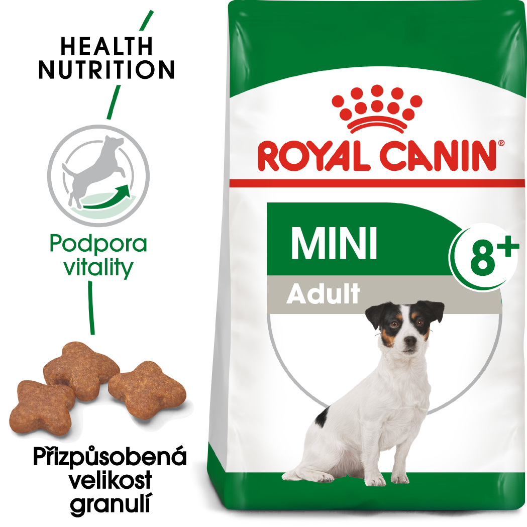 Royal Canin Mini Adult 8+ - granule pro stárnoucí malé psy - 800g