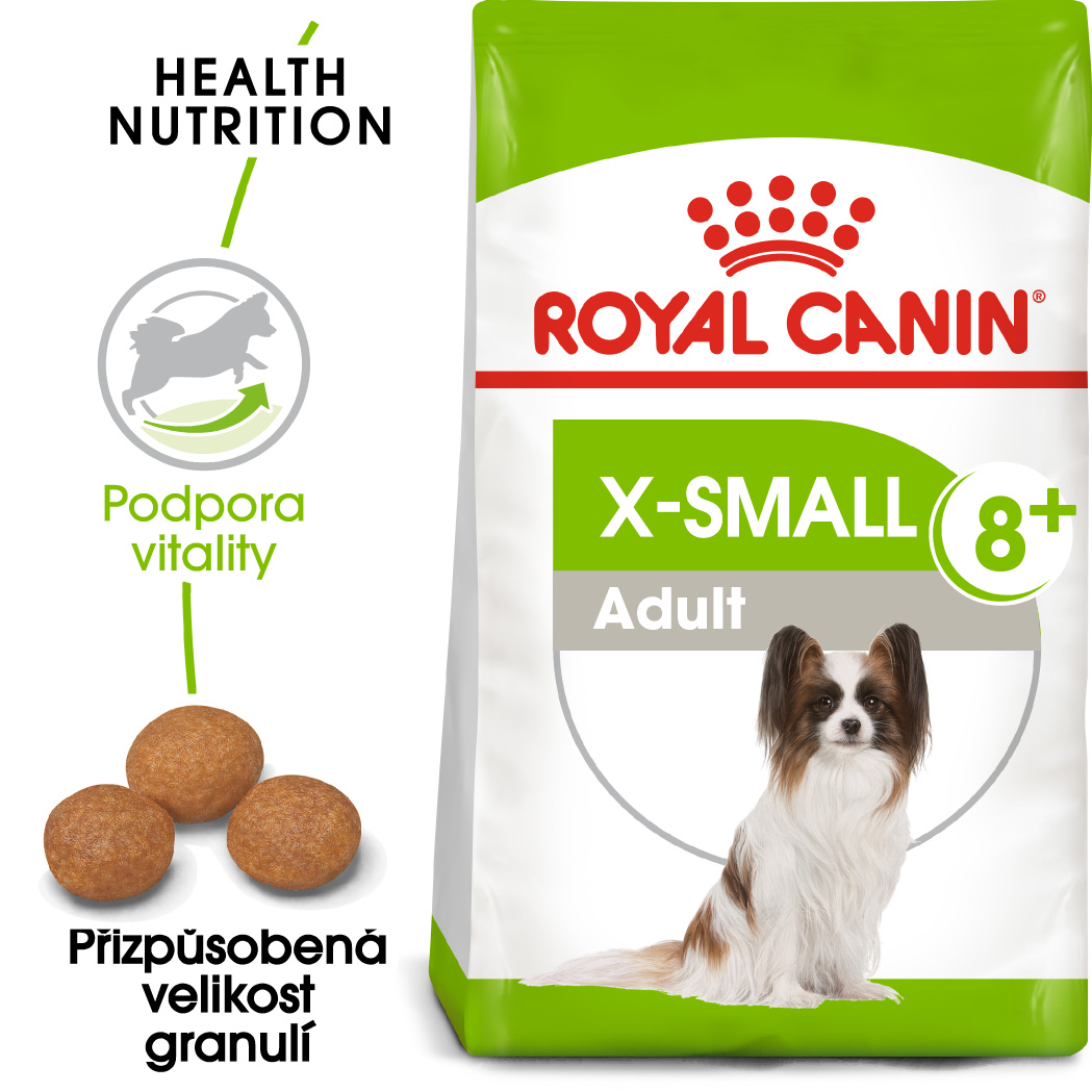 Royal Canin X-Small Adult 8+ - granule pro stárnoucí trpasličí psy - 500g