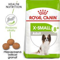 Royal Canin X-Small Adult 8+ - granule pro stárnoucí trpasličí psy
