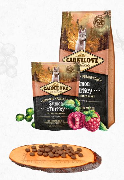 CARNILOVE PUPPY large SALMON/turkey - 12kg