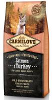 CARNILOVE    PUPPY large SALMON/turkey