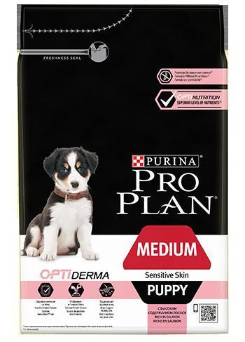 Purina Pro Plan Dog Medium Puppy Sensitive Skin - 3kg