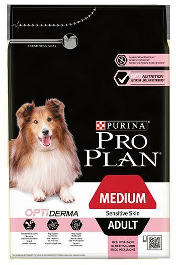 Purina PRO PLAN Dog Medium Adult Sensitive Skin - 14kg