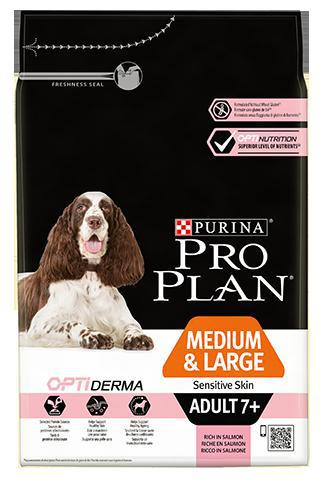 Purina Pro Plan Dog Medium & Large Adult 7+ Sensitive Skin - 3kg