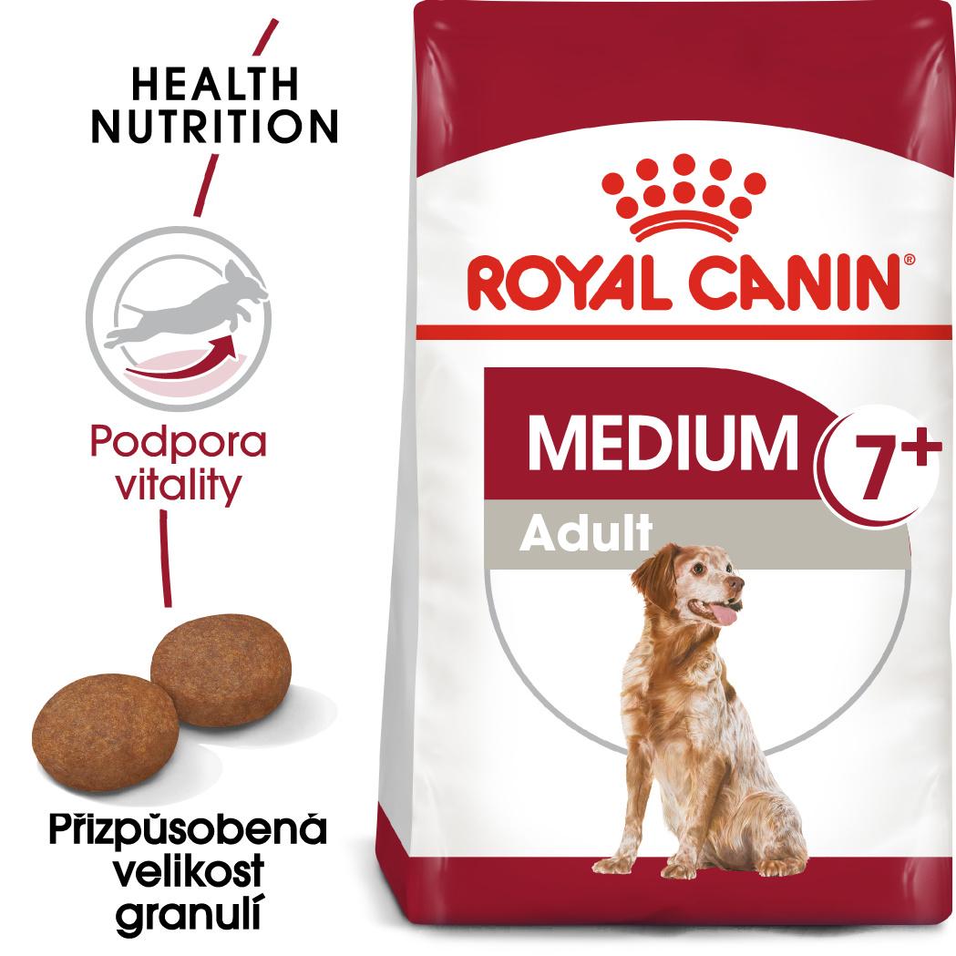 Royal Canin Medium Adult 7+ - granule pro dospělé stárnoucí střední psy - 15kg