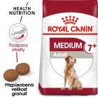 Royal Canin Medium Adult 7+  - granule pro dospělé stárnoucí střední psy