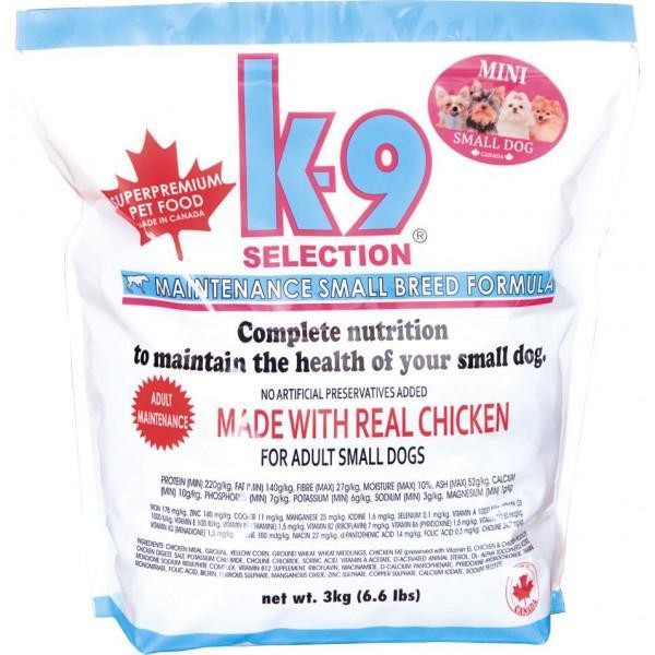 K 9 dog MAINTENANCE SMALL - 3kg