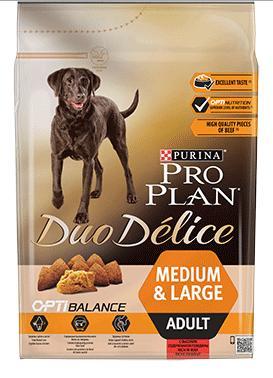 PROPLAN DUOdelice MEDIUM/LARGE beef - 10kg