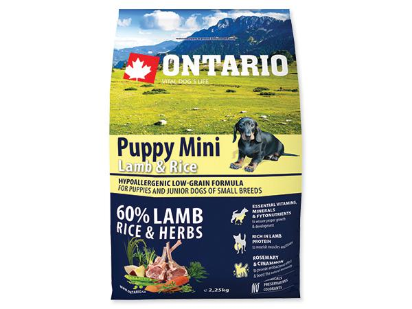ONTARIO dog PUPPY MINI lamb - 2,25kg