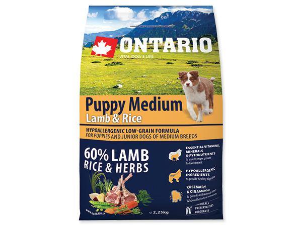 ONTARIO dog PUPPY MEDIUM lamb - 2,25kg