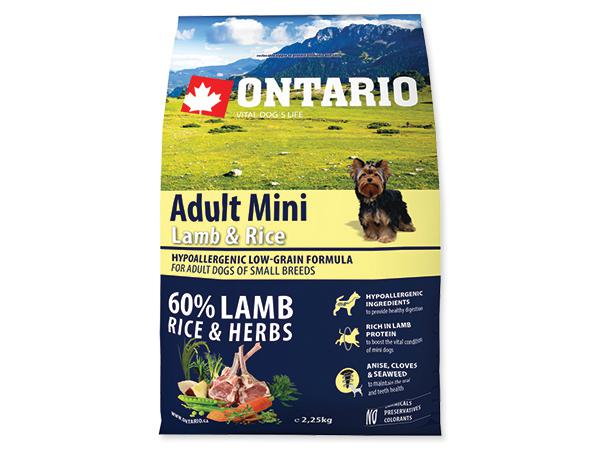 ONTARIO dog ADULT MINI lamb - 2,25kg