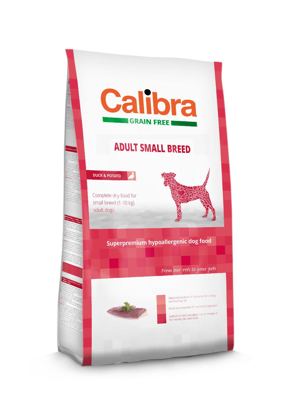 CALIBRA dog GF ADULT small kachna - 2kg