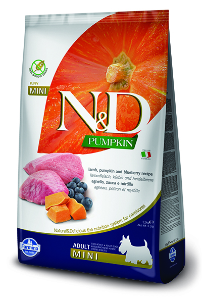 N&D dog GF PUMPKIN ADULT MINI lamb/blueberry - 800g