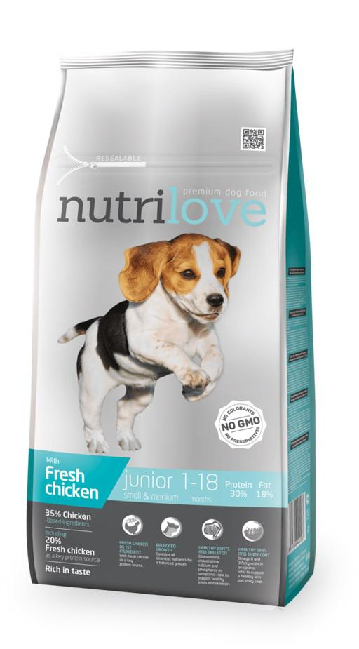 NUTRILOVE pes    JUNIOR  smallmedium  - 8kg