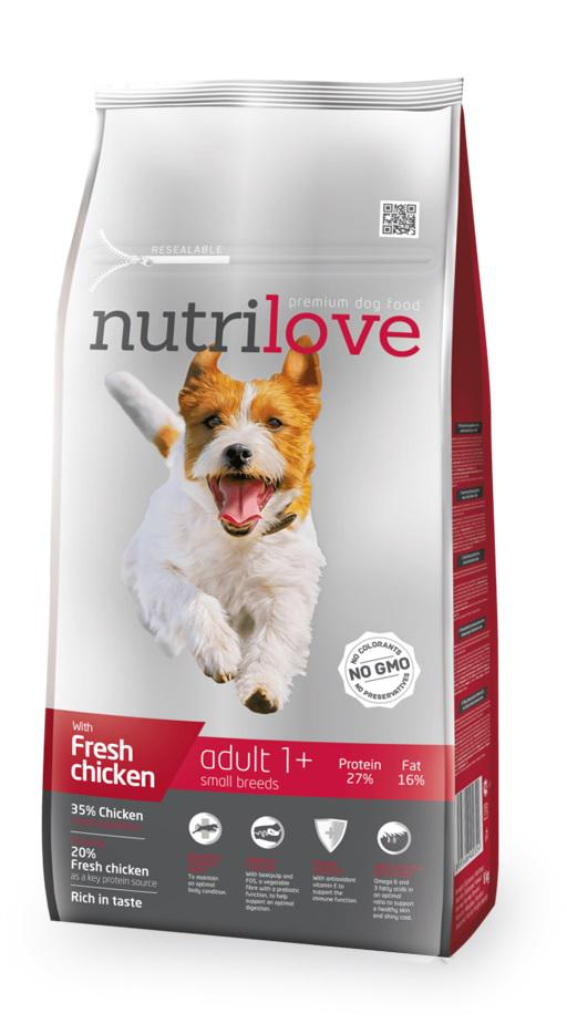 NUTRILOVE pes   ADULT   small  - 8kg