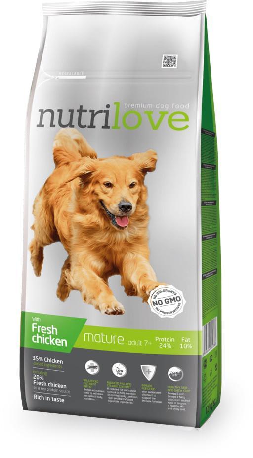 NUTRILOVE pes SENIOR - 12kg