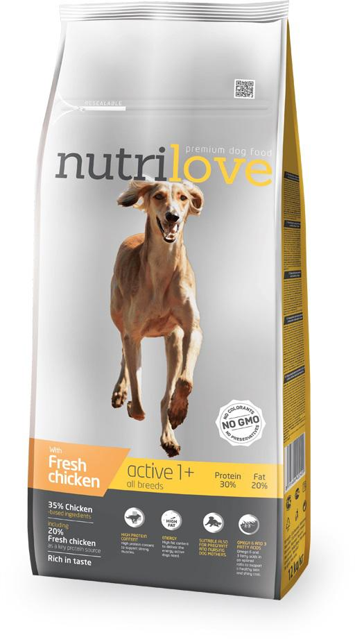 NUTRILOVE pes ACTIVE - 3kg