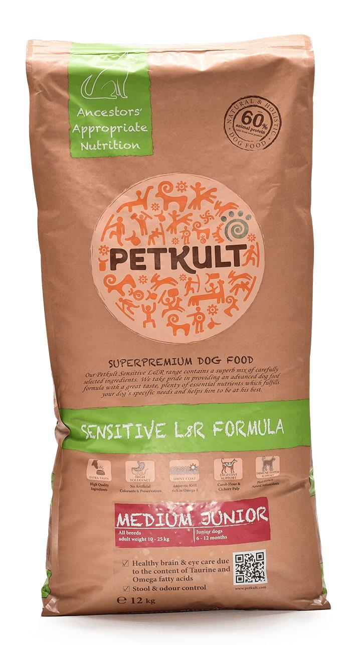 VZOREK - PETKULT  dog   MEDIUM  JUNIOR  lamb - 80g