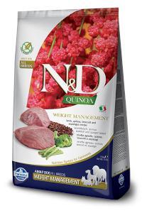 N&D dog GF QUINOA weight management LAMB/BROCCOLI