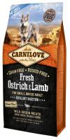CARNILOVE dog   FRESH  ADULT  SMALL OSTRICH/lamb