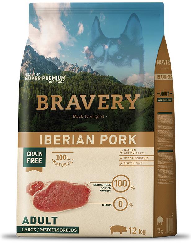 BRAVERY dog ADULT large/medium IBERIAN PORK - 4kg