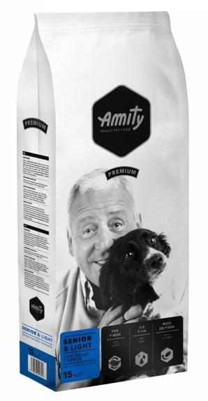 AMITY premium dog SENIOR / light - 2 x 15kg