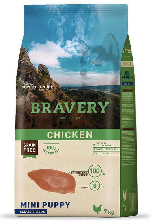 VZOREK - BRAVERY dog  PUPPY mini CHICKEN - 70g