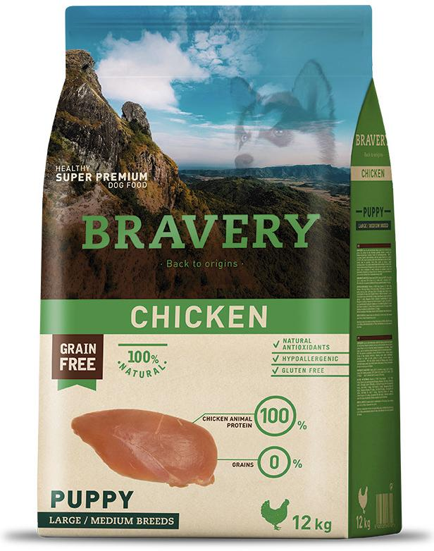 VZOREK - BRAVERY dog PUPPY largemedium CHICKEN - 70g