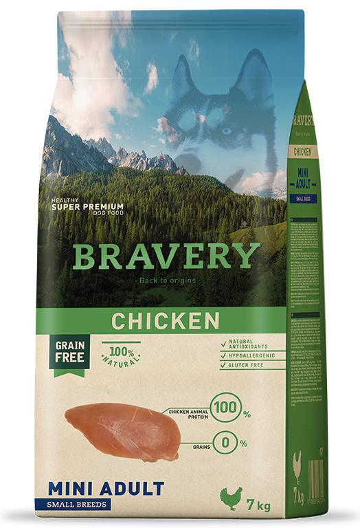 VZOREK - BRAVERY dog  ADULT mini CHICKEN - 70g