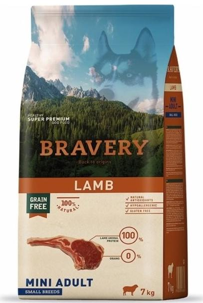 VZOREK - BRAVERY dog ADULT mini LAMB - 70g