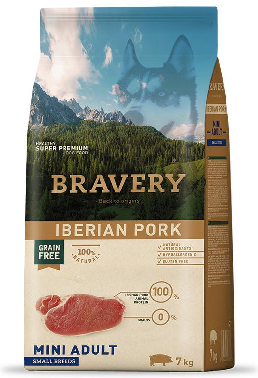 VZOREK - BRAVERY dog ADULT mini PORK - 70g